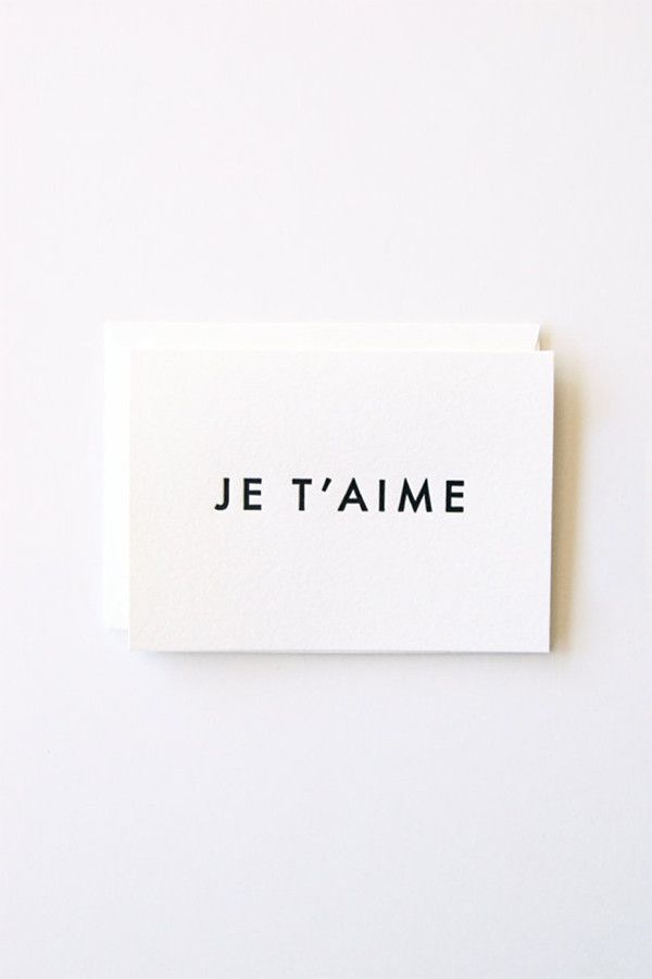 In Haus Press Je T'aime Card – Parc