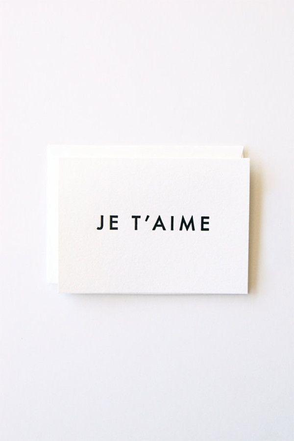 In Haus Press Je T'aime Card – Parc Boutique