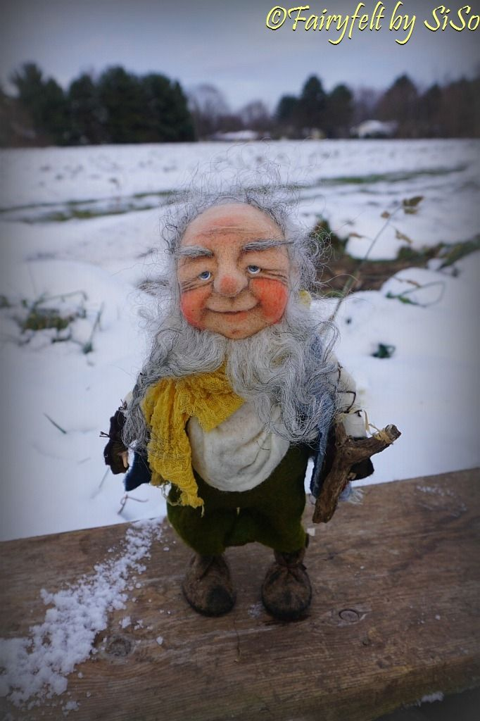 needle & wet felted Gnome https://www.facebook.com/FairyfeltBySiso/