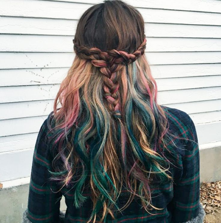 mermicorn hair multicolor