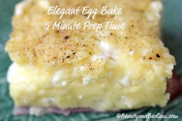 You have to try it to believe it! Creamy, elegant Egg bake and it whips up in five minutes. MUST TRY!