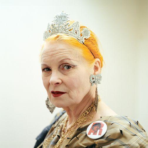 Vivienne Westwood in tiara