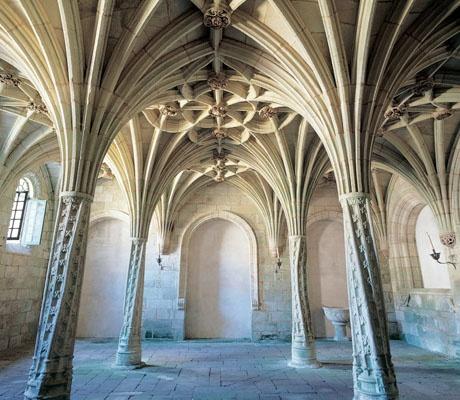 """Sala de las Palmeras Pétreas, Monasterio de Santa María la Real de Oseira, Ourense - """"Palm Tree Room"""", Monastery of Santa María la Real of Oseira, Ourense, Spain"""