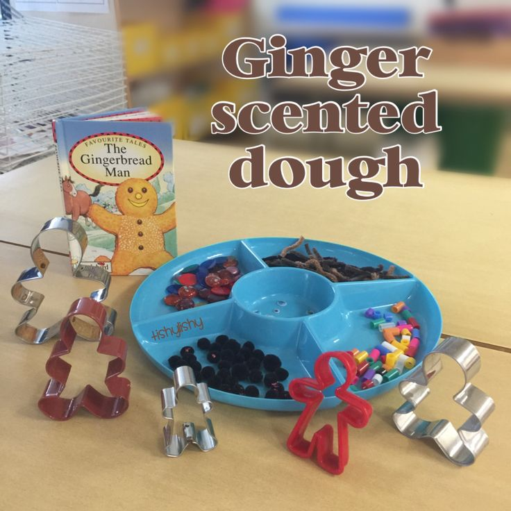 Gingerbread Man enhancement on the dough table