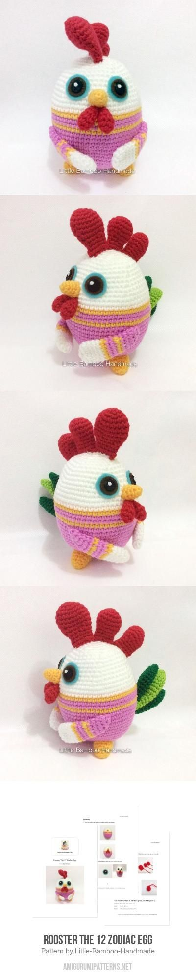 Rooster The 12 Zodiac Egg Amigurumi Pattern