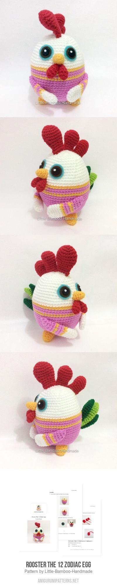 Rooster The 12 Zodiac Egg amigurumi pattern