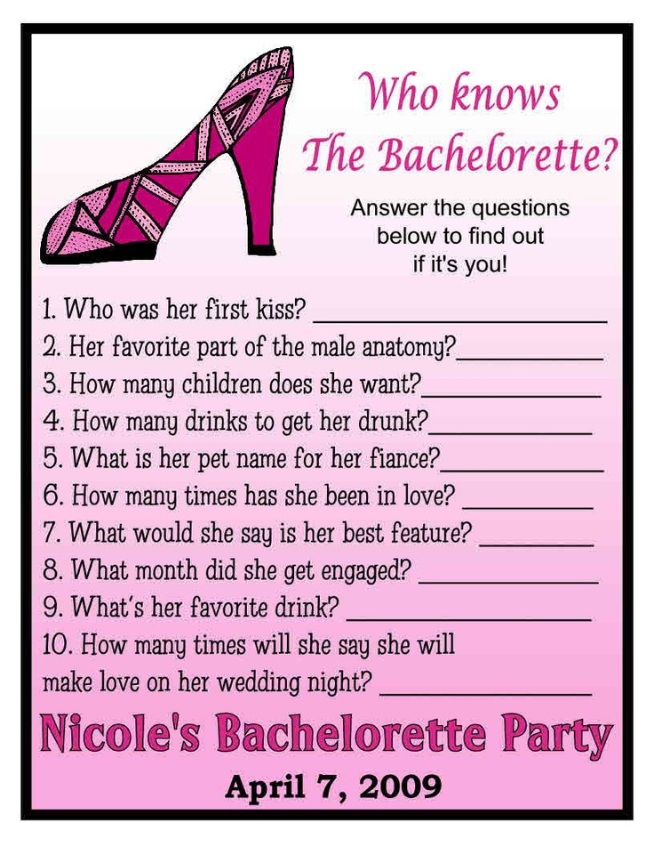 12 Who Knows The Bachelorette Party Game Cards Nice eBay