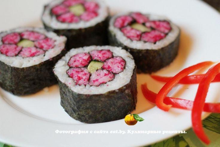 Кадзари-суши «Розовая хризантема»