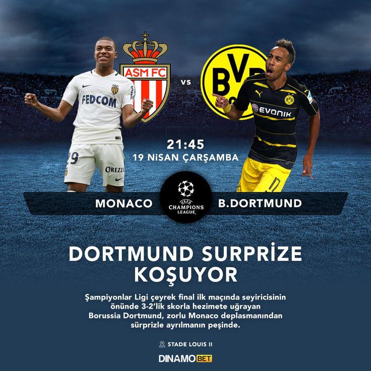 Monaco'ya 3-2 yetecek mi? Dortmund intikam gibi bir rövanşa istiyor. www.dinamobet16.com #dinamobet #dortmund #monaco