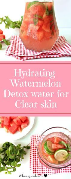 watermelon detox water is  perfect for summer to clear skin problems and stay hydrated.