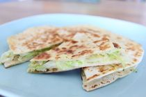 Cabbage and Cheese Quesadilla Recipe (used red cabbage & kashkaval cheese)
