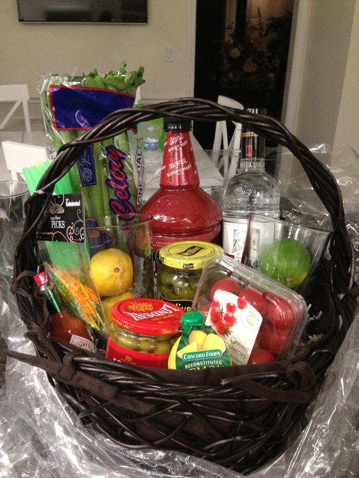 Bloody Mary Basket I Made For A Friend S 21st Birthday