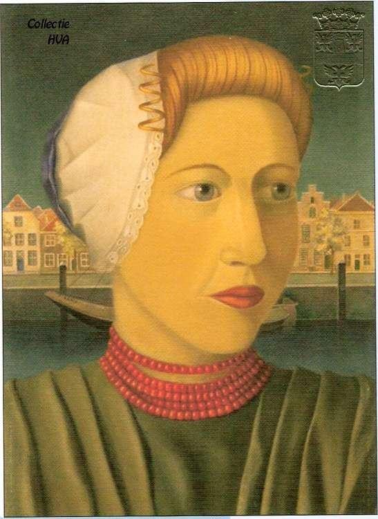 Portret van Adriana de Rijke door Piet Rijken 1953 / portrait of Adriana de Rijke by Piet Rijken