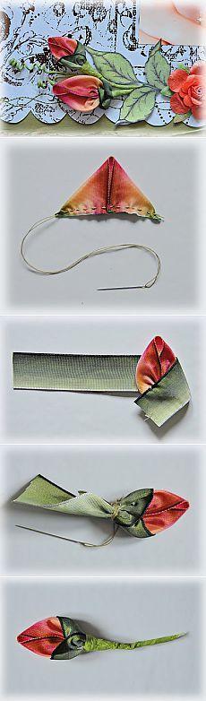 ScrapHouse | Скрапбукинг - мастер-класс | Как сделать цветочные бутоны из лент