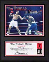 Muhammad Ali Sublimated 12x15 Player Plaque | Details: Thrilla In Manila