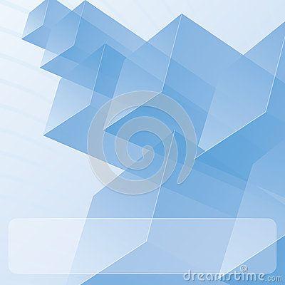 Módulos azules transparentes abstractos  DREAMSTIME