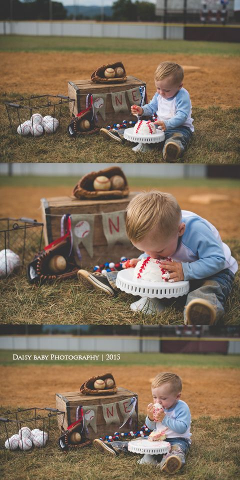 Daisy Baby Photography: Max turns 1 | Baseball Cake Smash | Daisy baby Photography | Front Royal Va Photographer