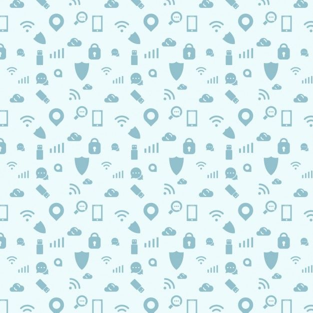 дизайн Шаблон из значков подключения Бесплатные векторы