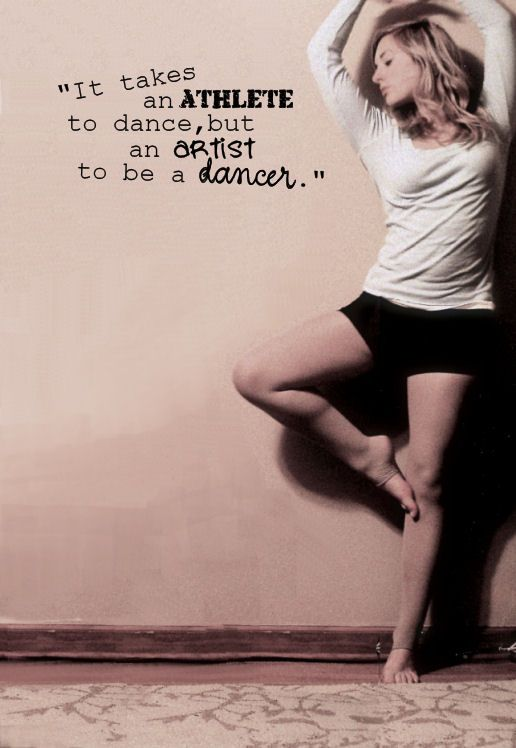 So true ♥ I love this. There are some girls who say dancing is a sport, but personally I would rather have it being an art