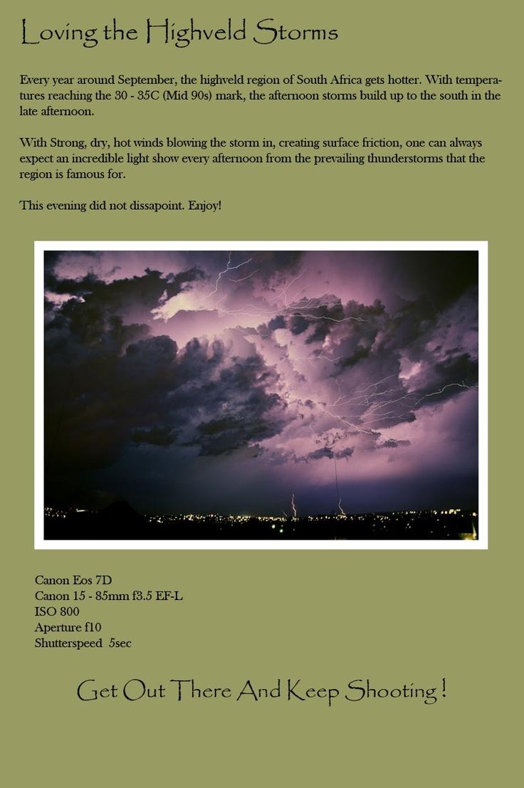 Wednesday, October 17, 2012  Highveld Thunderstorm