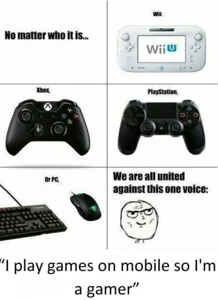 I M A Phone Gamer Gamer Gamer Meme Games
