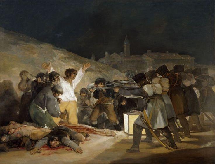 """Francisco de Goya, """"Tres de mayo"""" (1814) © Museo Nacional del Prado, Dist…"""