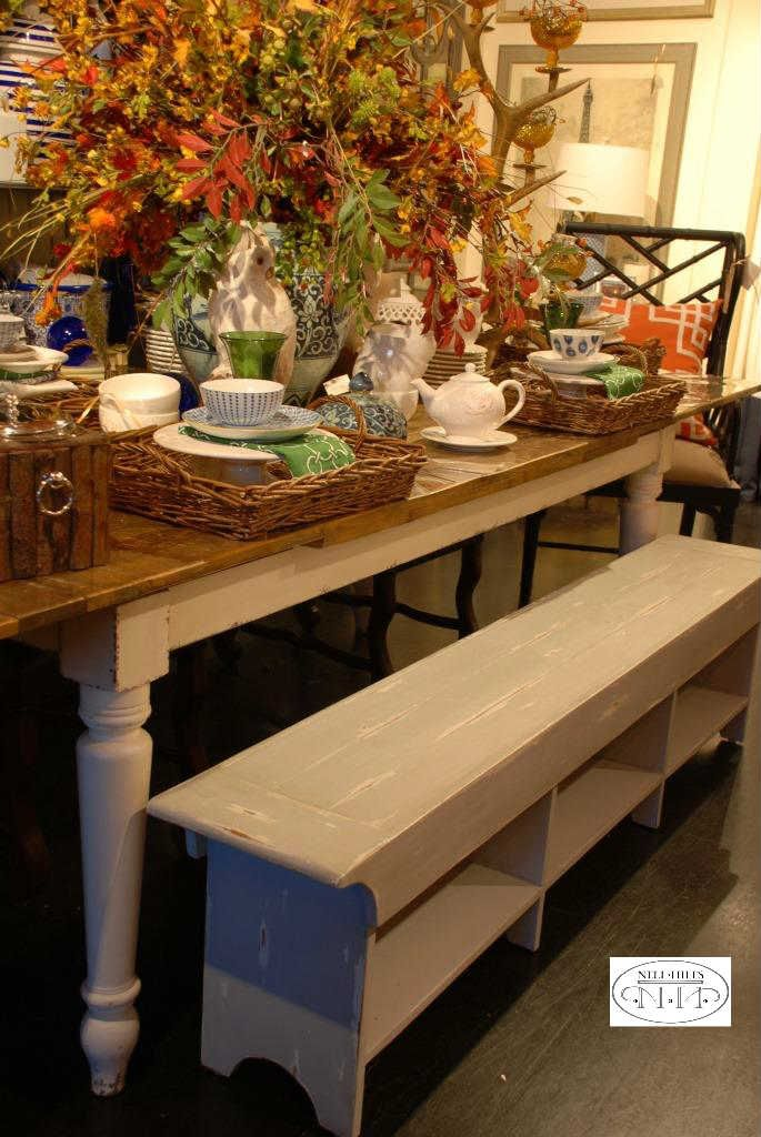 Benches are a perfect pick if you have lots of folks to fit around your table, especially kids!