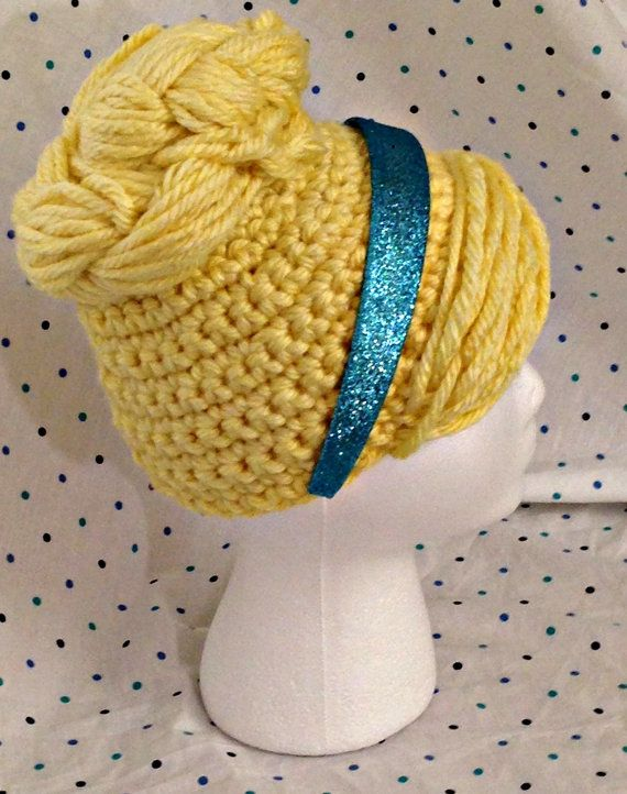 Cinderella wig hat by YellowSpotDesigns on Etsy