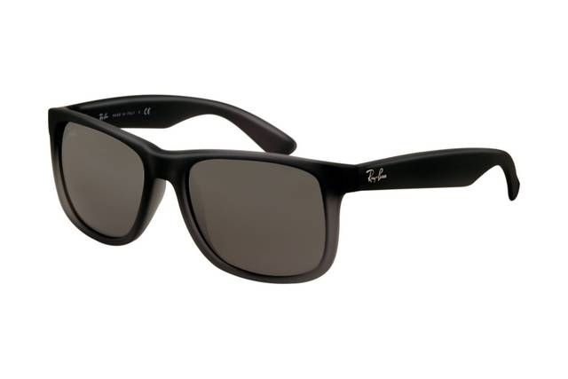 Ray Ban Justin RB4165 Sunglasses Rubber Grey Frame Grey Gradient Lens