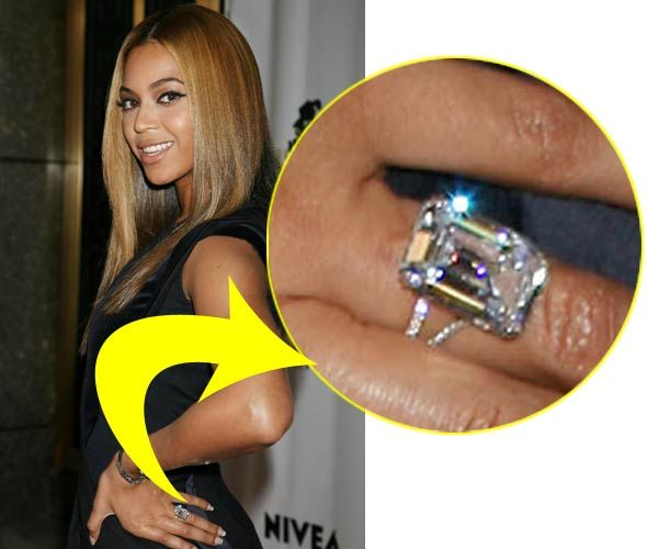 Put A Ring On It: Beyonce's 18 carat ring #engagement ring #emerald cut rings #Beyonce
