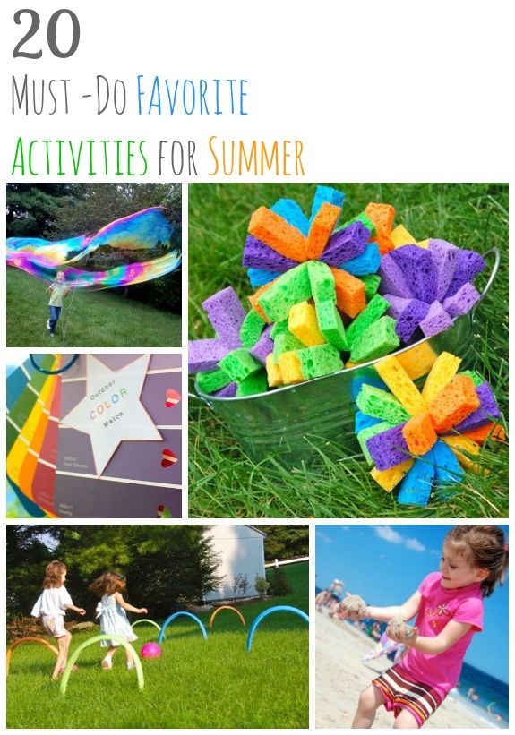 20 Summer Activities For Kids - there are some good ones on this list!
