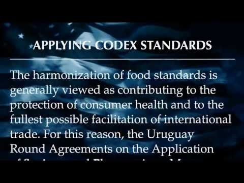 National Health Federation - Codex Alimentarius & Health Freedom  Definition of Codex Alimentarius: International code of voluntary standards for food additives, pesticide residue, veterinary drugs, and other issues. This is a shady international body sanctioned by the United Nations. FDA Mission: to promote international harmonization & to fulfill obligations under international agreements. Take the 10 minutes and watch this video.
