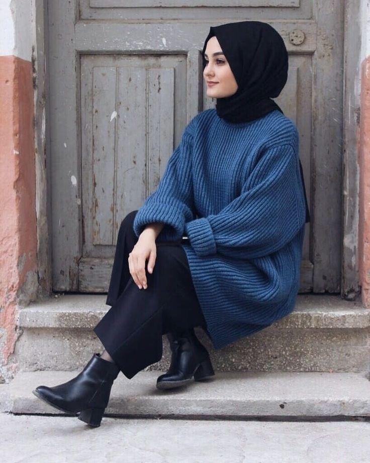 Indigo blue oversize model pullover 59,99tl standard size colors white, black, in