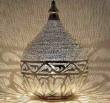 Египетский ручной работы МАРОККАНСКИЙ СТИЛЬ серебро посажены люстра лампа фонарь ligh