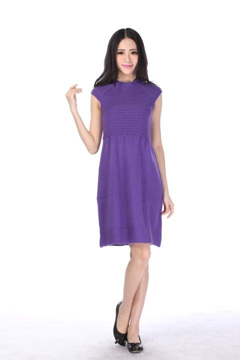 Knitted dress MONTPARNASSE Amethyst - EmKha