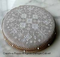 Tutorial: how to make a round pinkeep.  I made these for Christmas presents years ago and gave them all away.  Hard to find instructions for, even on the internet.  Can be made in fashion fabrics without the gimp edge, too.