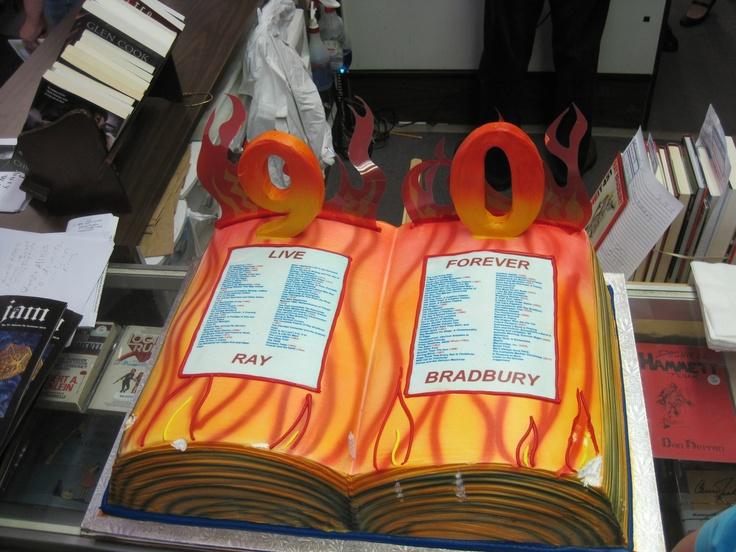 Beautiful birthday cake for the The Great Ray Bradbury 90th Bday.