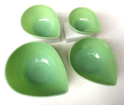 Set of 4 Fire King Jadite Jadeite Swedish Modern Mixing Bowls Excellent | eBay