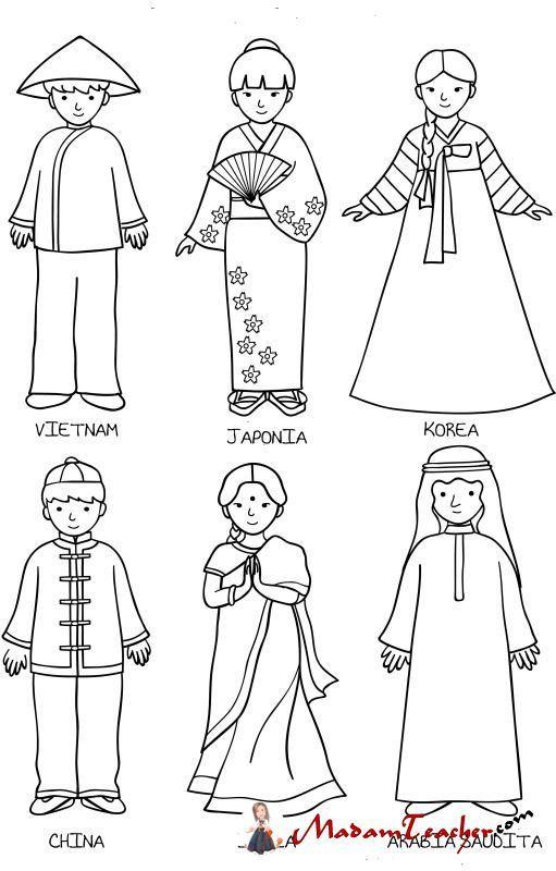 Farklı Kültürler Boyama 3 Missions World Crafts World
