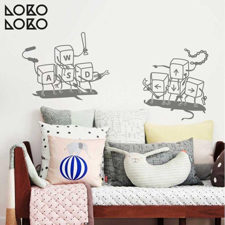 Vinilo decorativo para gamers · Teclas de ordenador para videojuegos · Redecora tu dormitorio #lokolokodecora