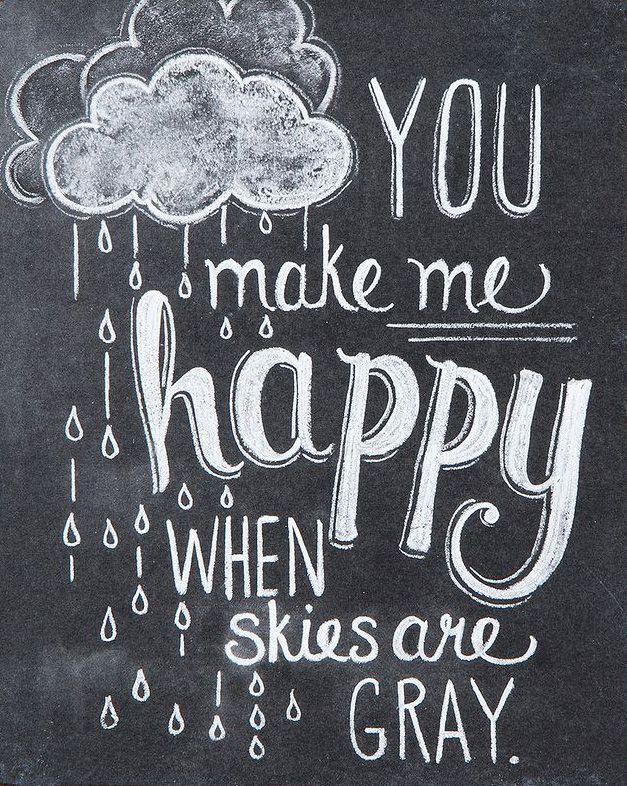 'Make Me Happy' Chalk Sign