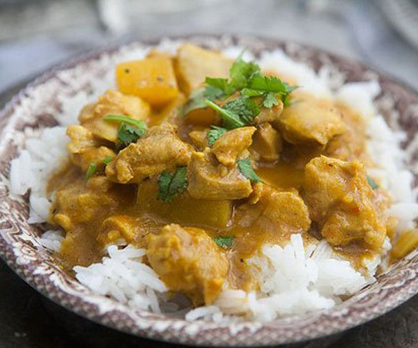 A sweet and mild curry with onions, garlic, coconut milk, spices and the sweetness of mangoes For non-meat eaters - vegetables, tofu or plant protein can be substituted in most recipes. Adjust cooking
