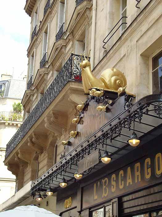 L'Escargot restaurant - Paris - I have missed this too!