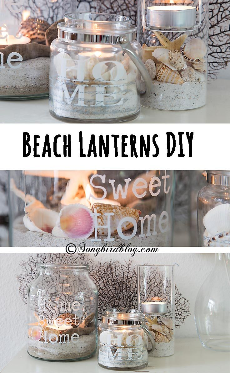 Summer decorating should be light, easy and fun, just like summer. This beach lanterns DIY project is just perfect. It is an easy and simple way to add summer decor. www.songbirdblog.com