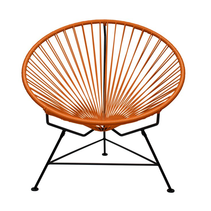 Sunburst Hoop Modern Lounge Chair in Orange | dotandbo.com - why so expensive?! I want two for the patio