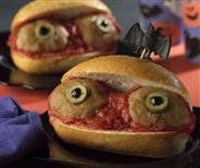 How to make a fun & spooky Eyeball Sub!  Great Halloween recipe for the kids!