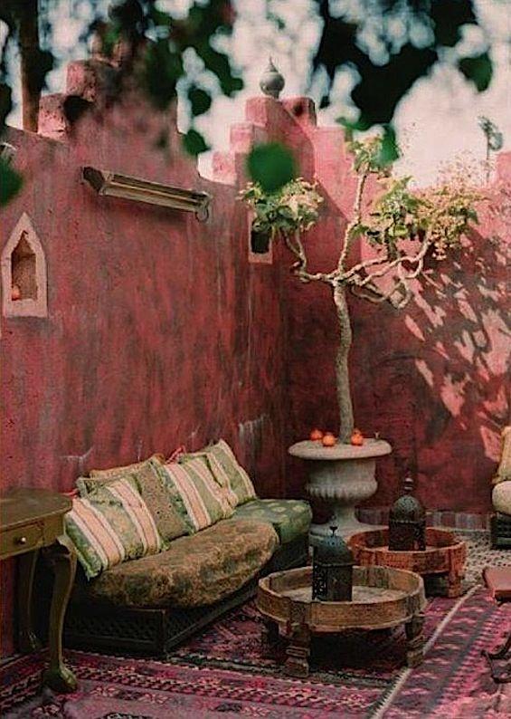 Moorish-Bohemian courtyard