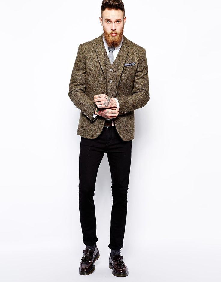 Enlarge ASOS Slim Fit Blazer In Harris Tweed