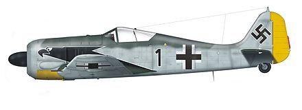 Focke-Wulf Fw 190 A-4, I./JG 2, geflogen von Oberleutnant Hanning, Frankreich, Frühjahr 1943