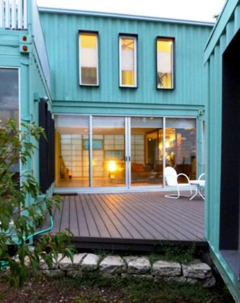 The Very Green Six Recycled Shipping Container Home, Flagstaff, AZ, USA.
